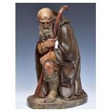 Chalkware Figure Of A Saint
