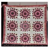 Strawberry and Star Quilt