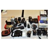 Group of Canon Camera Equipment
