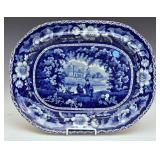 English Ironstone Blue and White Platter
