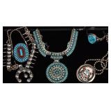 Group of Native American Turquoise Jewelry