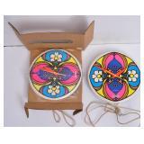 Two Peter Max Wall Clocks