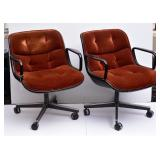 Pair of Knoll Swivel Office Chairs