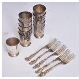 Gorham Sterling Silver Cup Set (11)