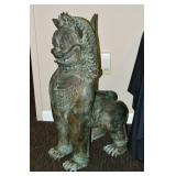 Chinese Bronze Temple Dog