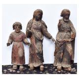 Three Carved Santos Figures