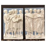 Pair of Della Robbia Style Plaques