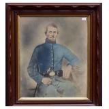Solar Enlargement Of Civil War Soldier