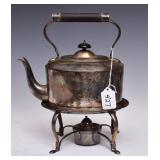 English Sterling Silver Kettle on Stand