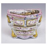 French Faience Miniature Chest of Drawers
