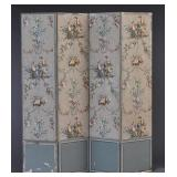 French Wall Paper Dressing Screen