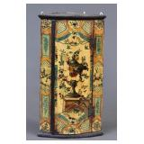 Diminutive Painted Hanging Corner Cabinet