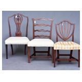 Group of Three Hepplewhite Chairs