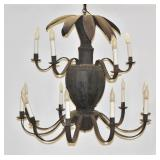 Continental Tole Chandelier