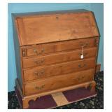 Chippendale Maple Slant Front Desk