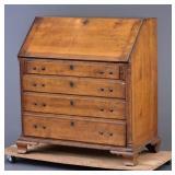 Chippendale Cherry Slant Front Desk