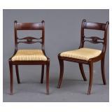 Pair of Regency Side Chairs