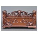 Victorian Mahogany Hall Bench