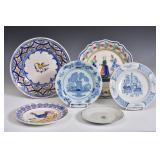 Three French Faience Plates