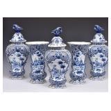 Delft Blue and White Garniture Set