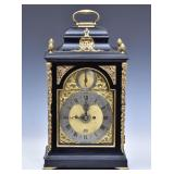 Dutch Ebonized Bracket Clock