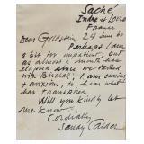 Alexander Calder Letter (ALS)
