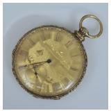 14k Gold M.J. Tobias Pocket Watch