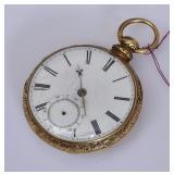14k Gold English Pocket Watch