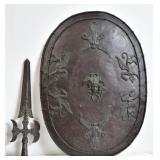 Renaissance Revival Metal Shield