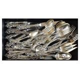 Partial Set Towle Sterling Silver Flatware