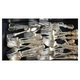 Partial Set Whiting Sterling Silver Flatware