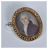 George II Hand Painted Portrait Miniature