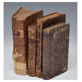 Four Early Leather Bound Books