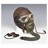 WWII Fighter Pilot Helmet