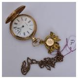 Waltham 14k Gold Ladies Pocket Watch