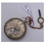 Continental Silver Pocket Watch