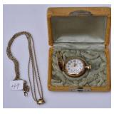 14k Gold Ladies Pocket Watch
