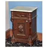 Victorian Walnut Half Commode