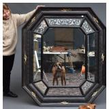 Large Dutch Ebonised Mirror