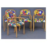 Set of Four Modern Italian Arm Chairs