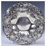 Art Nouveau Sterling Silver Footed Center Bowl