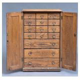 Keystone Stereoscopic Oak Card Cabinet
