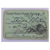 John F. Kennedy Signed US Senate Pass
