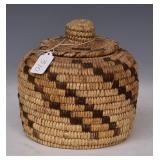 Papago Pima Lidded Basket