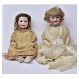 Two German Bisque Baby Dolls