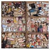 Large Grouping of Miniature Dolls and Accessories