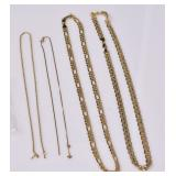 Four 14k Gold Chains