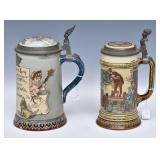 Two Mettlach Steins