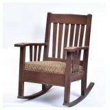"Harden ""Wavy Arm"" Oak Rocker"