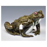 Bavent Glazed Pottery Toad